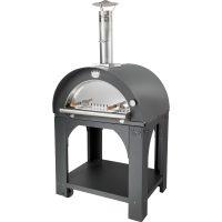 Clementi Pulcinella Vedfyrt Pizzaovn 60x60 cm, Antrasitt