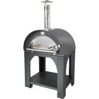 Clementi Pulcinella Vedfyrt Pizzaovn 80x60 cm, Antrasitt