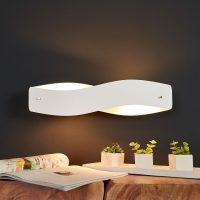 Dimbar, hvit og elegant LED-pendellampe Lian
