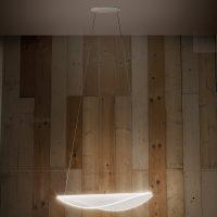 Diphy LED-hengelampe, 76 cm, DALI-dimbar