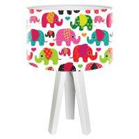 Elefant barnevennlig bordlampe
