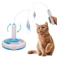 Elektrisk katteleke med fjær