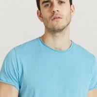 Filippa K T-shirt M. Roll Neck Tee Blå