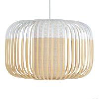 Forestier Bamboo Light S pendellampe, 35 cm, hvit