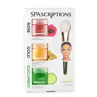 Gold, Rose & Cucumber Gel Masks, 150 ml Spascriptions Ansiktsmaske