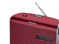 Grundig Music 60 - Personlig radio - 0.5 watt - sølv, rød