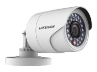 Hikvision IR Bullet Camera DS-2CE16C0T-IRPF - Overvåkingskamera - farge (Dag og natt) - 1 MP - 720p - M12-montering - fastfokal - DC 12 V