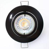 Innfellingslampe høy volt Snok, svart