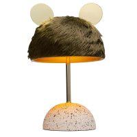 KARE Ear bordlampe, skjerm med pelsutseende