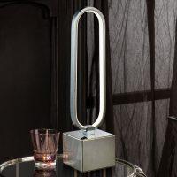 LED-bordlampe Colette i flott design, krom