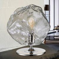 LED-bordlampe Petra med effektfull glasskjerm