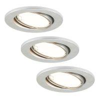 LED-downlight 7221-039 Fit 3-er-sett i alu