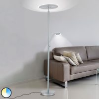 LED-gulvlampe Artur, lesearm, CCT dimbar, stål