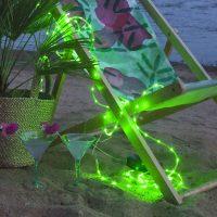 LED-lysslange Tuby, batteridrevet, grønn