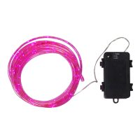 LED-lysslange Tuby, batteridrevet, rosa