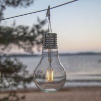 LED-solcellelampe Fille, dekorasjonsbelysning