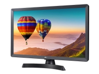 LG 24TN510S-PZ - LED-skjerm med TV-kanalvelger - 24 (23.6 synlig) - 1366 x 768 HD - 250 cd/m² - 1000:1 - 14 ms - 2xHDMI, RCA (sammensatt), RCA (komponent) - høyttalere - svart, jerngrå