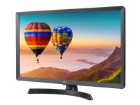 LG 28TN515V-PZ - LED-skjerm med TV-kanalvelger - 28 (27.5 synlig) - 1366 x 768 HD - 250 cd/m² - 5 ms - 2xHDMI - høyttalere - svart