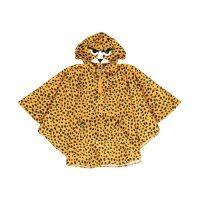 Leopard-printed poncho