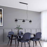 Lucande Dustian pendellampe, 3 lyskilder, 124 cm