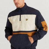 Lyle & Scott Anorakk 1/4 Zip Track Jacket Blå