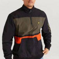 Lyle & Scott Anorakk 1/4 Zip Track Jacket Svart