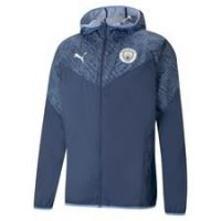 Manchester City Jakke Warm Up - Blå/Blå