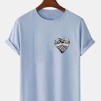 Mens 100% Cotton Halloween Skeleton Hand Print O-Neck Short Sleeve T-Shirts