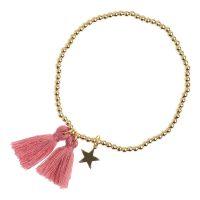 Metal Bead Bracelet W/tassel