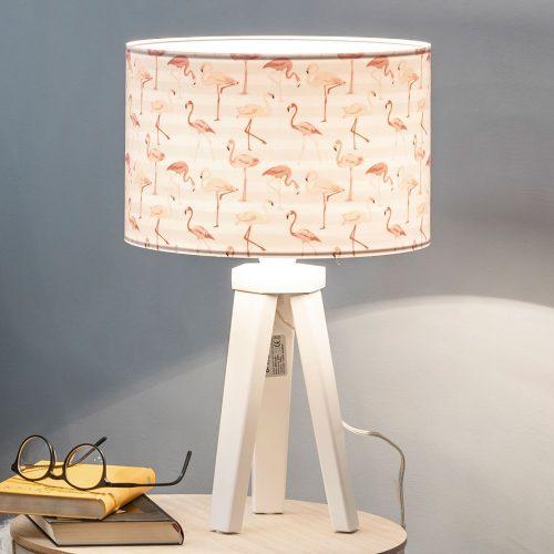 Miami bordlampe med flamingo-trykk