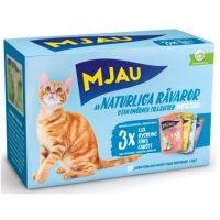Mjau Multi våtfôr i gele, kjøtt/Fisk 12pk