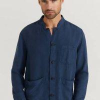 Morris Skjorte Corsoir Shirt Jacket Blå