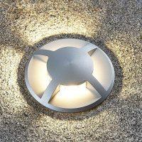Nedfelt lampe Edwina i aluminium