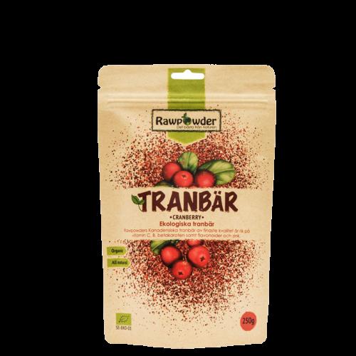 Økologisk Tranebær, 250 g