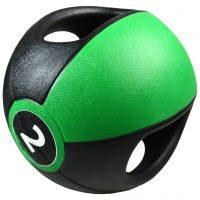 Pure2Improve Medisinball med håndtak 2 kg grønn