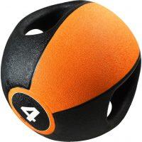 Pure2Improve Medisinball med håndtak 4 kg oransje