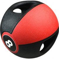 Pure2Improve Medisinball med håndtak 8 kg rød