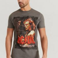 Rock Off T-shirt AC/DC Tee Grå