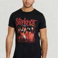 Rock Off T-shirt Slipknot Tee Svart