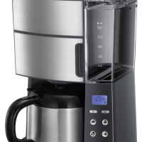 Russell Hobbs Grind & Brew Thermal Kaffetrakter - Børstet Stål