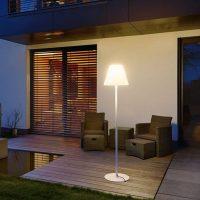 SLV Adegan utendørs gulvlampe, hvit