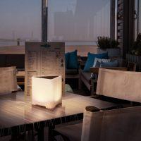 SLV Kenga 17 mobil LED-terrasselampe, høyde 16,5cm