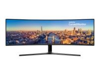 Samsung C49J890DKU - CJ89 Series - LED-skjerm - kurvet - 49 (48.9 synlig) - 3840 x 1080 @ 144 Hz - VA - 300 cd/m² - 3000:1 - 5 ms - HDMI, DisplayPort, USB-C - høyttalere - trekullsort