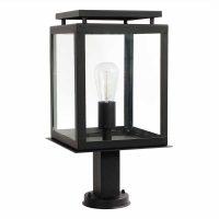 Sokkellampe de Vecht, svart, IP44