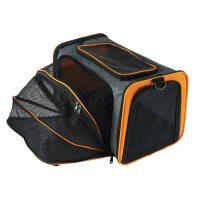 Sort/Oransj utvidbar hunde- og katteveske
