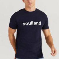 Soulland T-Shirt Chuck T-shirt Blå