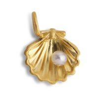 Souvenir Shell Pendant, pendant, gold-plated sterling silver