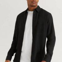 Studio Total Skjorte Favourite Lyocell Shirt Svart