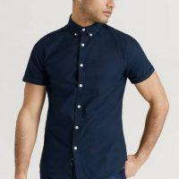 Studio Total Skjorte Melker Short Sleeve Shirt Blå
