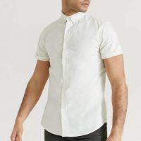Studio Total Skjorte Melker Short Sleeve Shirt Natur